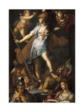 Minerva Victorious over Ignorance Prints by Bartholomaeus Spranger