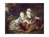 French Kings to Be: Louis XVI and Louis XVIII as Babies Poster by Francois Hubert Drouais