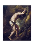 Titian (Tiziano Vecelli) - Sisyphus - Reprodüksiyon