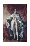 King Ferdinand VII Wearing Golden Fleece and Great Cross Giclee Print by Vicente Lopez y Portana