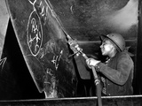 African American Woman Working on the Liberty Ship Photo