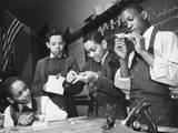 African American Students Making Model Airplanes for U.S. Navy During World War 2 Photo