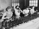 Woman War Workers Assembling Oxygen Masks at American Anode Company Photo