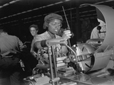 African American Woman Lathe Operator at a Midwest Supercharger Plant Photo