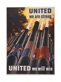United We are Strong, United We Can Win Posters