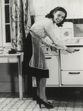 African American Actress Lena Horne at a Gas Stove Photo