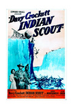 Davy Crockett Indian Scout Print