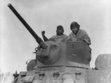 First Official Photo of African American Marines in Tank Turret During World War 2 Photo
