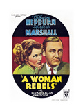 A Woman Rebels Posters