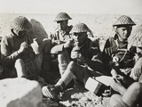 New Zealanders in Libya Eat Lunch During World War 2. in Center Photo