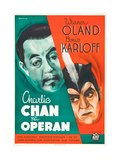 Charlie Chan at the Circus Premium Giclée-tryk