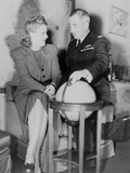 Aviator Jacqueline Cochran with Capt. Norman Edgar Photo