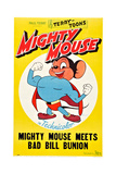 Mighty Mouse Meets Bad Bill Bunion Print
