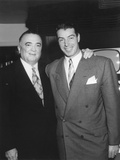 Fbi Director J. Edgar Hoover with Retired Yankee Ball Player Photo