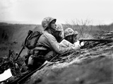 Marine Observer Finds the Location of a Machine Gun Nest on a Map of Iwo Jima Photo
