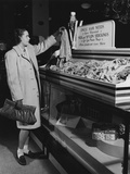Collection Point for Worn Out Silk Stockings During World War 2 Photo