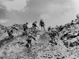 Marines Making a Direct Frontal Attack on a Japanese Postion on Iwo Jima Photo