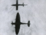British Spitfire Flies Beside a V-1 Photo
