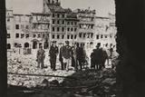General Eisenhower and Others in Ruined Warsaw Photo