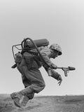 Marine with a Flame-Thrower Photo