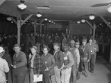 Workers Lined Up at the Hanford Reservation of the Manhattan Project Photo