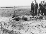German Waffen-Ss Troops at the Helmet Topped Graves of their Fellows During the Invasion of Poland Photo