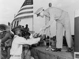 African American Airman Receiving a Military Award at Tuskegee Army Air Field Photo