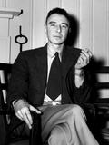 Robert Oppenheimer at the Clinton Engineer Works (Oak Ridge) of the Manhattan Project Photo