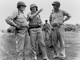 U.S. Commanders on an Inspection During World War 2 Photo