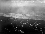 Aerial View of the First Wave of Landing Craft Invading Iwo Jima Photo
