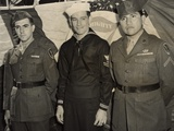 Survivors of Iwo Jima Flag Raising at Unveiling of Statue in New York Photo