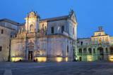 Cattedrale Di Santa Maria Assunta in the Baroque City of Lecce at Night, Puglia, Italy, Europe Photographic Print by  Martin