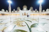 Sheikh Zayed Grand Mosque at Night, Abu Dhabi, United Arab Emirates, Middle East Photographic Print by  Christian