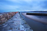 Pier at St. Andrews Harbour before Dawn, Fife, Scotland, United Kingdom, Europe Photographic Print by  Mark