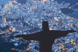Statue of Christ the Redeemer, Corcovado, Rio De Janeiro, Brazil, South America Photographic Print by  Angelo