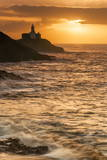 Mumbles Lighthouse, Bracelet Bay, Gower, Swansea, Wales, United Kingdom, Europe Photographic Print by  Billy