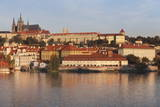 View over the River Vltava to the Castle District with St. Vitus Cathedral and Royal Palace Photographic Print by  Markus