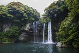 Cheonjiyeon Pokpo Waterfall, Island of Jejudo, UNESCO World Heritage Site, South Korea, Asia Impressão fotográfica por  Michael