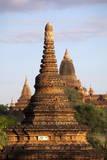 Ancient Temples, Wet Kyi Inn Village, Nyaung U, Bagan, Myanmar (Burma), Asia Photographic Print by  Lynn