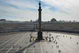 Palace Square with the Alexander Column before the Hermitage (Winter Palace) Photographic Print by  Michael
