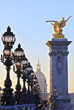 Looking across the Pont Alexandre Iii to the Dome Church, Paris, France, Europe Photographic Print by  Neil