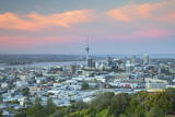View of Auckland from Mount Eden at Sunset, Auckland, North Island, New Zealand, Pacific Photographic Print by  Ian