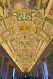 Frescoes on the Ceiling of the Gallery of the Maps, Vatican Museums, Rome, Lazio, Italy, Europe Photographic Print by Carlo Morucchio