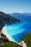Myrtos Beach, Cephalonia, Ionian Islands, Greek Islands, Greece, Europe Fotografisk tryk af Tuul