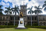 Iolani Palace, Honolulu, Oahu, Hawaii, United States of America, Pacific Photographic Print by  Michael