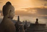 Borobudur Buddhist Temple, UNESCO World Heritage Site, Java, Indonesia, Southeast Asia Reproduction photographique par  Angelo