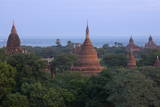 View from Buledi Temple of Bagan's Many Temples at Sunrise, Myanmar (Burma), Asia Reproduction photographique par  Lynn