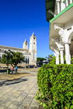 Town Square of Puerto Plata with Cathedral of St. Philip the Apostle Photographic Print by  Michael