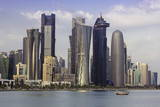 New Skyline of the West Bay Central Financial District of Doha, Qatar, Middle East Photographic Print by  Gavin