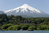 Volcan Villarrica and Lao Villarrica at Pucon, Lakes District, Southern Chile, South America Photographic Print by  Tony